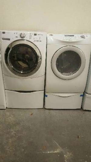 kenmore front load washer and dryer. kenmore front load washer ( color ivory) and dryer