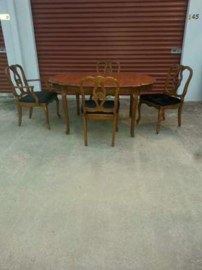 Antique Walter Of Wabash Table And 4 Chairs Solid Wood For Sale In Magnolia Tx 5miles Buy