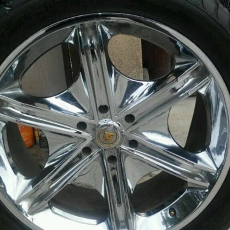 22 Inch Chrome Cadillac Escalade Rims With Tires For Sale
