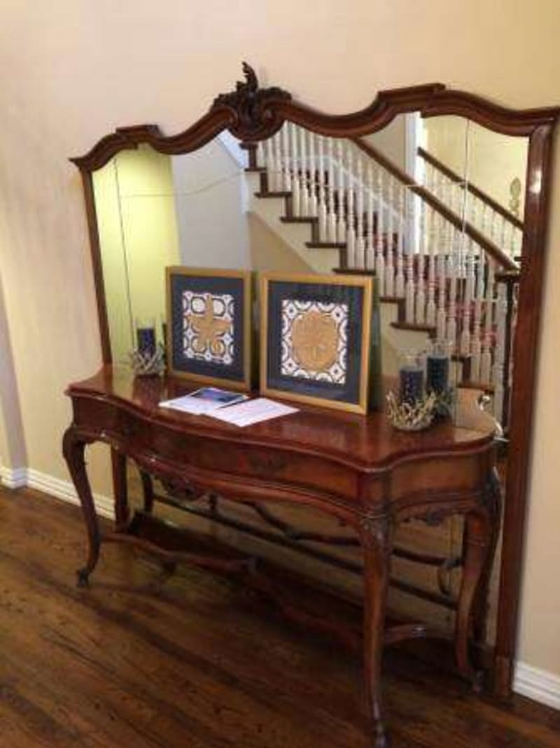 Foyer Table Sale : Antique foyer table w mirror for sale in dallas tx