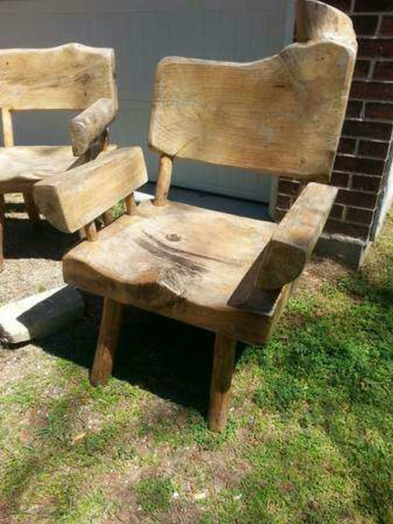 Howdy Home Furniture by 2 Rustic His And Hers Chairs Solid Wood For  Sale In. 17    Howdy Home Furniture     Pdf Diy Diy Garden Woodworking