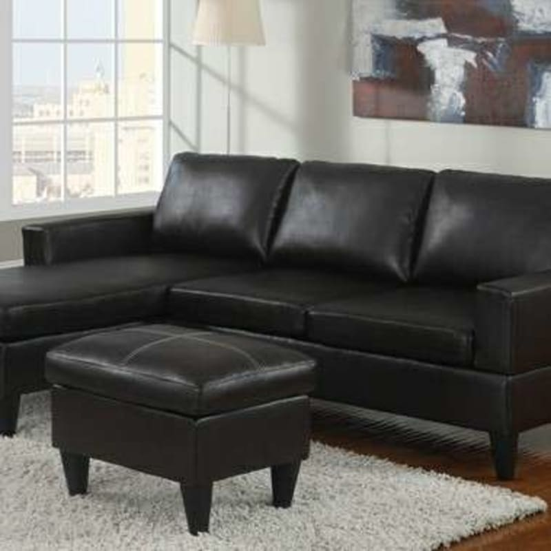 Brand New Black Faux Leather Sectional Sofa Ottoman For Sale In Silver Spring Md 5miles