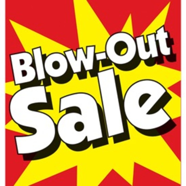 Blow Out Sale Friday And Saturday Only For Sale In